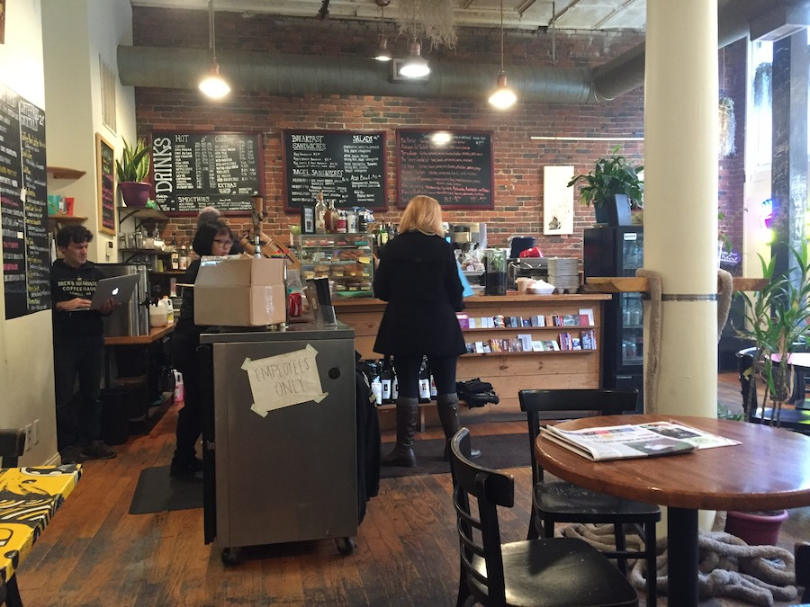 Brew'd Awakening Coffee Shop in Lowell Mass